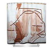 Calm - Tile Shower Curtain by Gloria Ssali