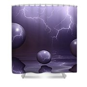 Calm Before The Storm Shower Curtain by Shane Bechler