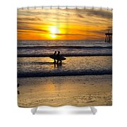 Calm Waters Shower Curtain by Athena Lin