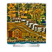 Camp Reynolds Angel Island Shower Curtain by Cheryl Young