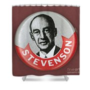 CAMPAIGN BUTTON Shower Curtain by Granger