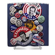 Campaign Buttons Shower Curtain by Granger