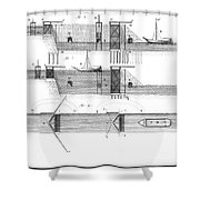 Canals: Languedoc Canal Shower Curtain by Granger