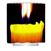 Candle Power Shower Curtain by Will Borden