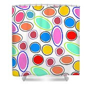 Candy Spots Shower Curtain by Louisa Knight