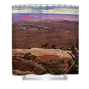 Canyonland Overlook Shower Curtain by Robert Bales
