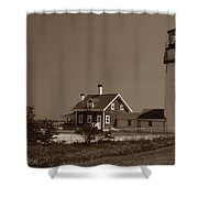 Cape Cod Lighthouse Shower Curtain by Skip Willits