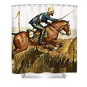 Captain Beresford in The Zulu Wars Shower Curtain by James Edwin McConnell