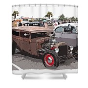 Car Show 1928 Shower Curtain by Steve McKinzie