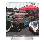 Car Show Hot Rods Shower Curtain by Steve McKinzie