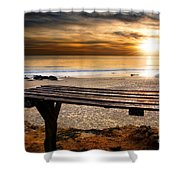 Carcavelos Beach Shower Curtain by Carlos Caetano