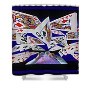 Card Tricks Shower Curtain by Bob Christopher