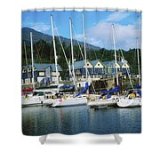 Carlingford Marina, Carlingford, County Shower Curtain by The Irish Image Collection