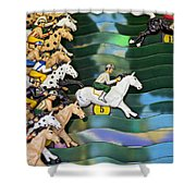 Carnival Horse Race Game Shower Curtain by Garry Gay