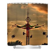 Carnival Ride Shower Curtain by Nicholas  Grunas