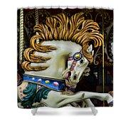 Carousel Horse - 4 Shower Curtain by Paul Ward