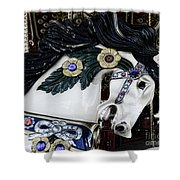 Carousel horse - 9 Shower Curtain by Paul Ward