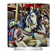 Carousel Horse 2 Shower Curtain by Paul Ward
