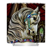 Carousel Horse 3 Shower Curtain by Paul Ward