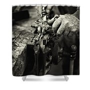 Carpenter L Shower Curtain by Rob Travis