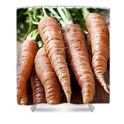 Carrots Shower Curtain by Elena Elisseeva