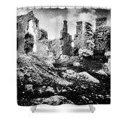 Castle Lyons Shower Curtain by Simon Marsden