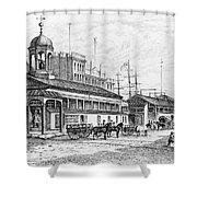 Catharine Market, 1850 Shower Curtain by Granger