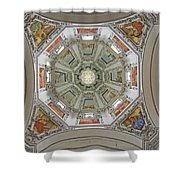 Cathedral Dome Interior, Close Up Shower Curtain by Axiom Photographic