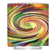 Cat's Tail In Motion. Stained Glass Effect. Shower Curtain by Ausra Paulauskaite