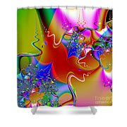 Celebration . Square . S16 Shower Curtain by Wingsdomain Art and Photography