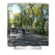 CENTRAL PARK MALL Shower Curtain by ROB HANS