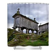 Cereal Keepers Shower Curtain by Carlos Caetano