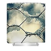 Chainlink Fence Shower Curtain by Joana Kruse