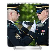 Changing Of Guard At Arlington National Shower Curtain by Terry Moore