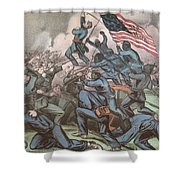 Charge Of The 54th Massachusetts Shower Curtain by Photo Researchers