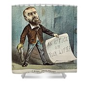 Charles Guiteau Cartoon Shower Curtain by Granger