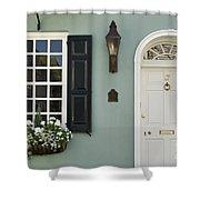 Charleston Doorway - D006767 Shower Curtain by Daniel Dempster