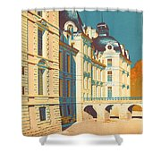 Chateau de Cheverny Shower Curtain by Nomad Art And  Design