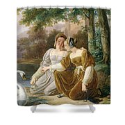 Chatelaines Shower Curtain by Pierre Henri Revoil