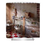Chef - Baker - The Bread Oven Shower Curtain by Mike Savad
