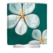 Cherry Blossoms Shower Curtain by Linda Woods