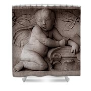 Cherubs 3 Shower Curtain by Andrew Fare