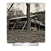 Chew Mail Pouch Sepia Shower Curtain by Steve Harrington