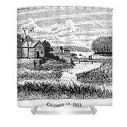 Chicago, 1833 Shower Curtain by Granger