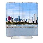 Chicago Panarama Skyline Shower Curtain by Paul Velgos