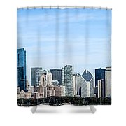Chicago Panoramic Skyline High Resolution Picture Shower Curtain by Paul Velgos