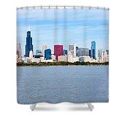Chicago Skyline Shower Curtain by Paul Velgos