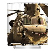 Chinook Shower Curtain by Mitch Cat