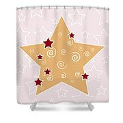 Christmas Star Shower Curtain by Frank Tschakert