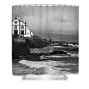 Church by the sea Shower Curtain by Gaspar Avila